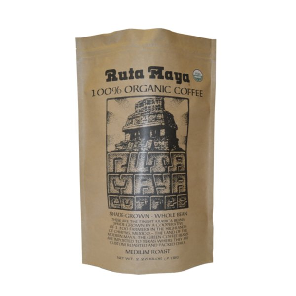 RUTA MAYA ORGANIC MEDIUM ROAST WHOLE BEAN COFFEE 5 LB
