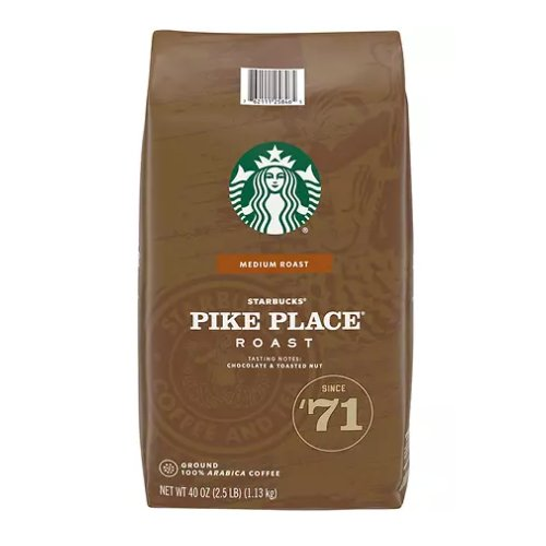 Starbucks Pike Place Roast Ground Coffee 2 lb